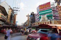 CHIANG MAI TAILANDIA - 23 FEBBRAIO: Il mercato del fiore nella camminata Immagini Stock Libere da Diritti