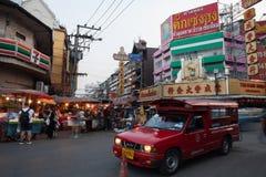 CHIANG MAI TAILANDIA - 23 FEBBRAIO: Il mercato del fiore nella camminata Fotografie Stock Libere da Diritti