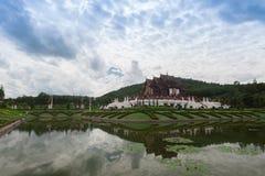 Chiang Mai, Tailandia a Flora Ratchaphruek Park reale Fotografie Stock