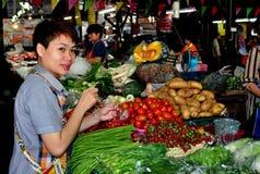 Chiang Mai, Tailandia: Mercato dell'alimento di Somphet Fotografie Stock Libere da Diritti