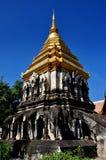 Chiang Mai, Tailandia: Wat Chiang Mun Chedi Fotos de archivo libres de regalías