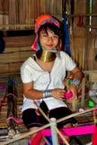 Chiang Mai, Tajlandia: Długa szyi kobieta Zdjęcie Royalty Free