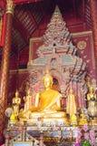 Chiang Mai, Tajlandia - Feb 17 2015: Budda statuy przy Watem Chiang Obrazy Stock