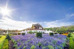 Chiang Mai, Tajlandia, Ho Kham Luang przy Królewskim flory expo, tradycyjna tajlandzka architektura Obraz Royalty Free