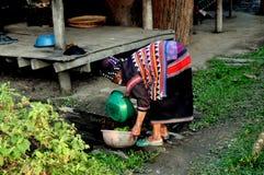 Chiang Mai, Tajlandia: Kobiet Płuczkowi warzywa Zdjęcia Royalty Free