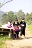 CHIANG MAI TAJLANDIA, Nov, - 5: Portret tri niezidentyfikowany wzgórze obrazy royalty free
