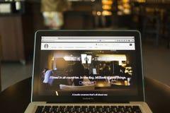 CHIANG MAI TAJLANDIA, PAŹDZIERNIK, - 02, 2014: Fotografia Starbucks Coff Obraz Royalty Free
