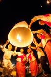 CHIANG MAI TAJLANDIA, PAŹDZIERNIK, - 24, 2009: Grupa Tajlandzcy ludzie losów angeles Zdjęcia Stock