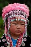 CHIANG MAI TAJLANDIA, PAŹDZIERNIK, - 25: Portret niezidentyfikowany Akh Obraz Royalty Free