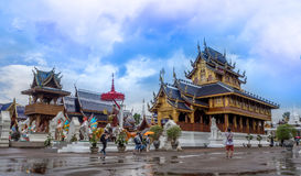 CHIANG MAI, TAJLANDIA - 20 Sierpień, 2017: Zakaz meliny świątynia jest Tajlandzkim świątynią który lokalizuje w północnej części  Zdjęcia Stock