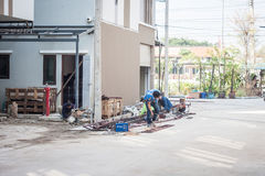 Chiang Mai Tajlandia, Styczeń - 18: budowa teren w Chiang ma Zdjęcie Stock