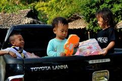 Chiang Mai, Tajlandia: Trzy Tajlandzkiego dziecka Zdjęcia Royalty Free