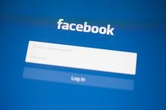 CHIANG MAI TAJLANDIA, WRZESIEŃ, - 28, 2014: Facebook zastosowanie Obraz Royalty Free