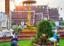 Chiang Mai temple, Thai Stock Photography