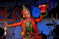 Chiang Mai, Th: Dancer at Festival Stock Photos