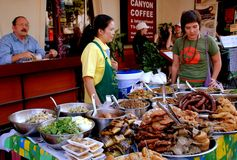 Chiang Mai, TH: Food Vendors Royalty Free Stock Photos