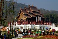 Chiang Mai TH: Paviljong för Ratchaphruek Parkkunglig person Arkivbild