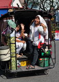 Chiang Mai, TH: Smiling Women in Tuk-Tuk Taxi Royalty Free Stock Photo