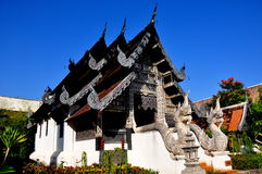 Chiang Mai, TH: Vihan bei Wat Chedi Luang stockbilder