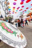 CHIANG MAI, THAÏLANDE 19 JANVIER : 31th parapluie de Bosang d'anniversaire Images stock