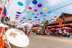 CHIANG MAI, THAÏLANDE 19 JANVIER : 31th parapluie de Bosang d'anniversaire Image stock