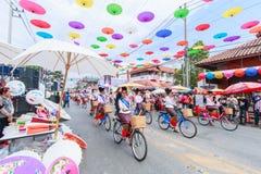 CHIANG MAI, THAÏLANDE 19 JANVIER : 31th parapluie de Bosang d'anniversaire Photo libre de droits