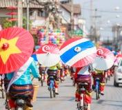 CHIANG MAI, THAÏLANDE 19 JANVIER : 31th parapluie de Bosang d'anniversaire Photographie stock libre de droits