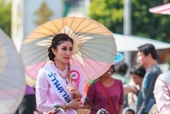 CHIANG MAI, THAÏLANDE 19 JANVIER : 31th parapluie de Bosang d'anniversaire Photo stock