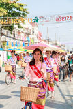 CHIANG MAI, THAÏLANDE 19 JANVIER : 31th parapluie de Bosang d'anniversaire Photographie stock