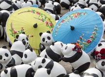 CHIANG MAI, THAÏLANDE le 19 mars 2016 : Tour du monde de pandas par WWF ex Image libre de droits