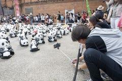 CHIANG MAI, THAÏLANDE le 19 mars 2016 : Tour du monde de pandas par WWF ex Photos stock