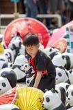 CHIANG MAI, THAÏLANDE le 19 mars 2016 : Tour du monde de pandas par WWF ex Photographie stock libre de droits