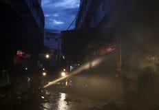 CHIANG MAI, THAÏLANDE 17 MAI : Le feu dans les entrepôts - le feu de crochet dedans Photographie stock