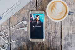 CHIANG MAI, THAÏLANDE - 9 MARS 2016 : copie d'écran de la musique a d'Apple Photos stock