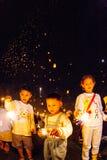 CHIANG MAI, THAÏLANDE - 24 OCTOBRE 2009 : Groupe de La de personnes thaïlandaises Photos stock