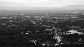 Aerial view of Chiang Mai, Thailand in the evening. Chiang Mai, Thailand. Aerial view of Chiang Mai, Thailand in the evening. Sunset of illuminated buidings and stock video