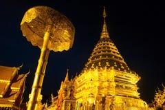 Chiang Mai Thailand - April 11 2017: Berömd tempel Doi Suthep i Thailand Arkivbild