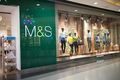Marks and Spencer shop. CHIANG MAI, THAILAND - APRIL 19 2018: Marks and Spencer shop. Shop  in Central Festival chiang mai. New Business Plaza of Chiangmai City Royalty Free Stock Photo