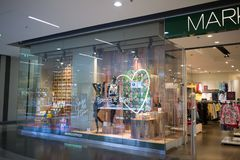 Marks and Spencer shop. CHIANG MAI, THAILAND - APRIL 19 2018: Marks and Spencer shop. Shop  in Central Festival chiang mai. New Business Plaza of Chiangmai City Royalty Free Stock Images