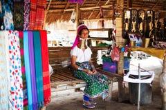 Chiang Mai, Thailand - APRIL 22, 2015: The village of long-necked women. Hilltribe Villages. Karen Long Neck Village Stock Image