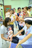 CHIANG MAI, Thailand - August 7, 2016:Children receiving vaccine Stock Image