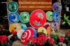 Chiang Mai, Thailand: Borsang Village Paper Parasols Royalty Free Stock Photography