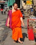 Chiang Mai Thailand: Buddistisk munk Royaltyfri Fotografi