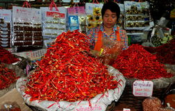 Chiang Mai, Thailand: Chili Peppers at Food Market Stock Photo