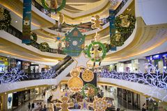 Christmas  decorate Area in Central Festival Chiang mai. CHIANG MAI, THAILAND -DECEMBER 10 2017: Christmas  decorate Area in Central Festival Chiang mai. New Royalty Free Stock Images