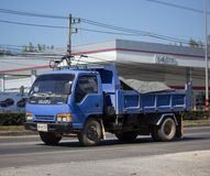 Private Isuzu Dump Truck. CHIANG MAI, THAILAND -DECEMBER 15 2017: Private Isuzu Dump Truck. On road no. 1001 8 km from Chiangmai Business Area royalty free stock images