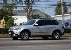 Private Suv Car. Bmw X5. CHIANG MAI, THAILAND -DECEMBER 4 2017: Private Suv Car. Bmw X5. Photo at road no.1001 about 8 km from downtown Chiangmai, thailand royalty free stock photos