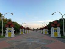 CHIANG MAI, THAILAND - DECEMBER 6, 2018 : The Royal Ratchaphruek Park , Biggest Flower Park in Chiang Mai, Thailand. Blue sky back. Ground stock photography