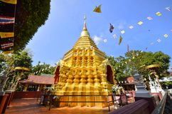 Sareerikkatartsirirak the name of golden pagoda in Wat Phan On or Phan On temple is the one of the oldest temple in Chiang Mai cit Royalty Free Stock Image