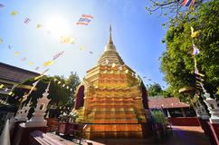 Sareerikkatartsirirak the name of golden pagoda in Wat Phan On or Phan On temple is the one of the oldest temple in Chiang Mai cit Stock Photos